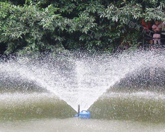 长兴县行政中心广场河道喷泉浮架维修