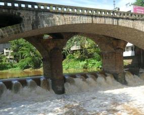 济南市任城区洙水河桥老桥拆除